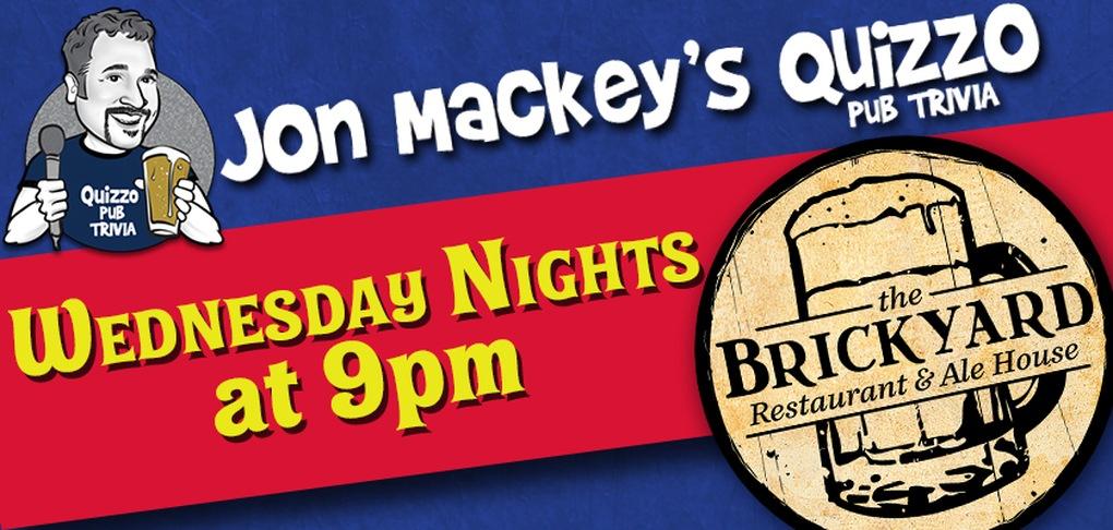 Quizzo at the Brickyard - Wednesday Nights at 9pm